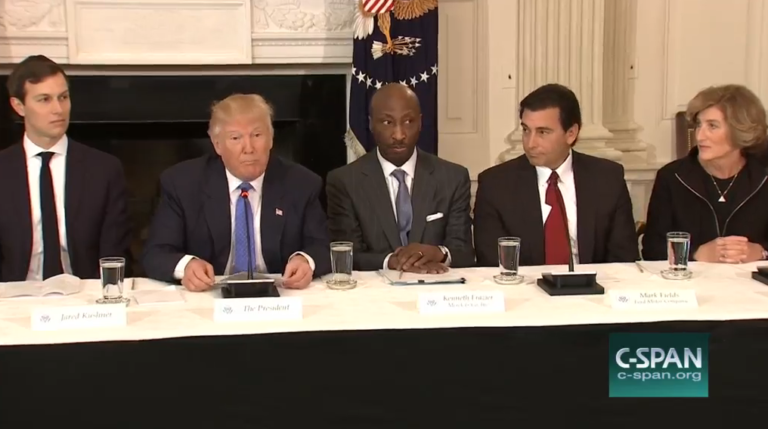 Trump Touts Policies While Some CEOs Push Skills Training