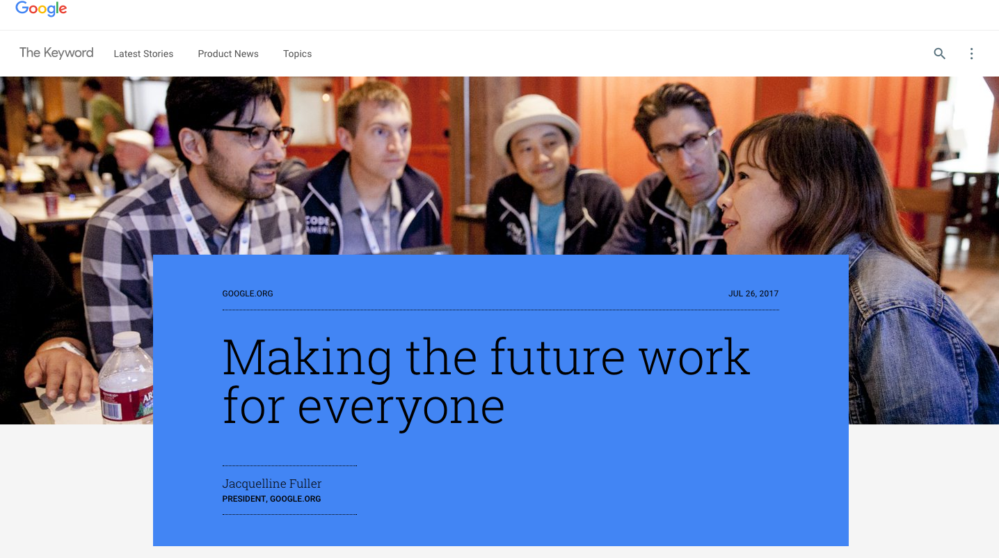 Google is all in on the future of work with $50 million