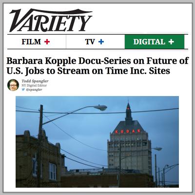 Variety previews Barbara Kopple's FutureWork documentary series