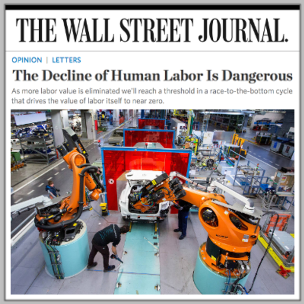 Art Bilger in the Wall Street Journal: The threat of automation is real. We must train our workforce now