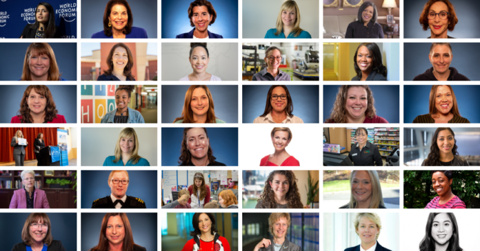 Collage of WorkingNation women for International Women's Day.