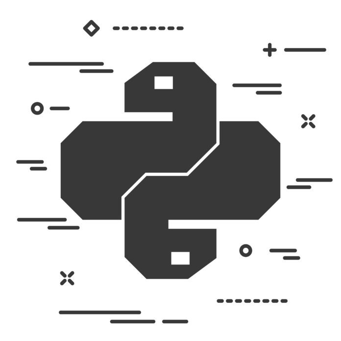 Photo of the Python coding language logo.