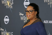 Photo of Oprah Winfrey at A Wrinkle In Time movie premiere.