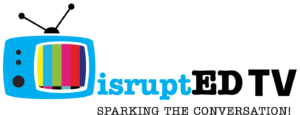 The logo for DisruptED TV, an online broadcaster which is focused on changing our educational system.