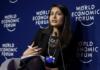 Saadia Zahidi speaks at the World Economic Forum Annual Meeting 2017 in Davos, Switzerland.