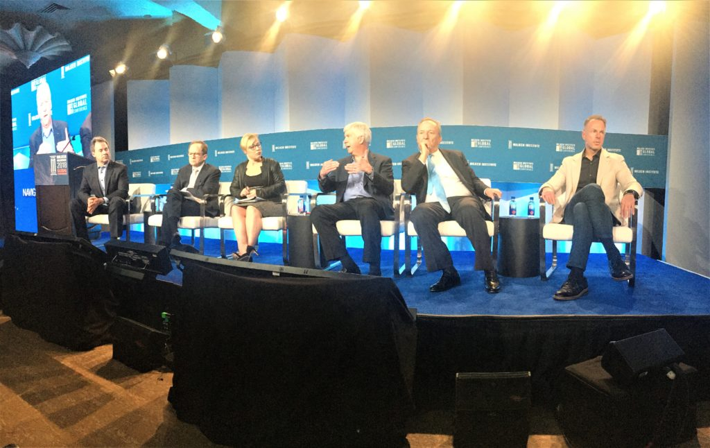 "Milken Institute Global Conference Panel ""Amber Waves of Greatness: Promoting Prosperity in Middle America"" panelists."