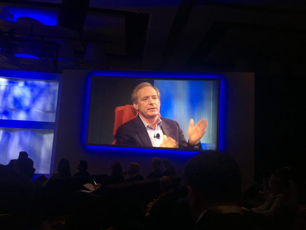 Microsoft CEO Brad Smith lamented the restrictions on H-1B work visas and its effects on the tech sector.
