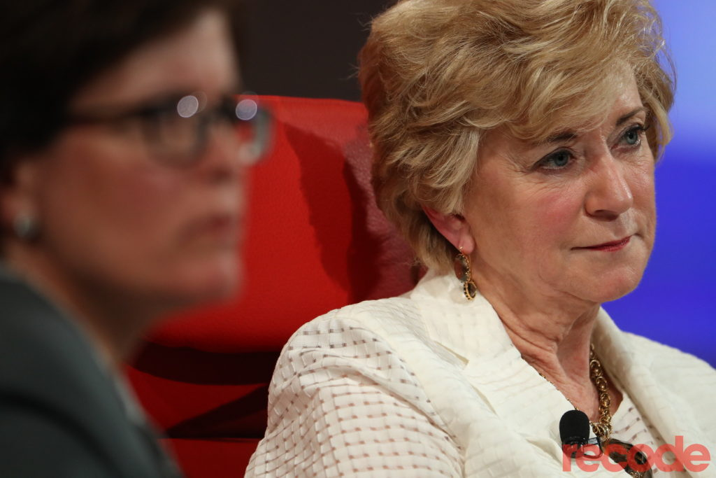 SBA Administrator Linda McMahon takes questions from the CodeCon audience.