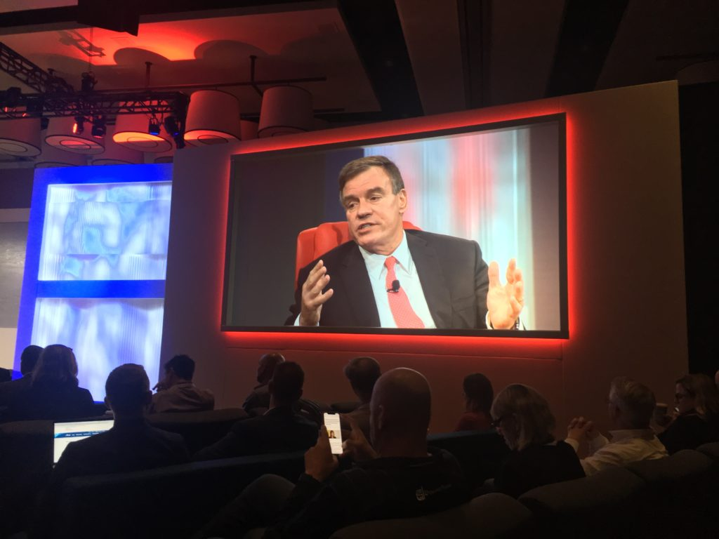 Sen. Mark Warner at CodeCon 2018.
