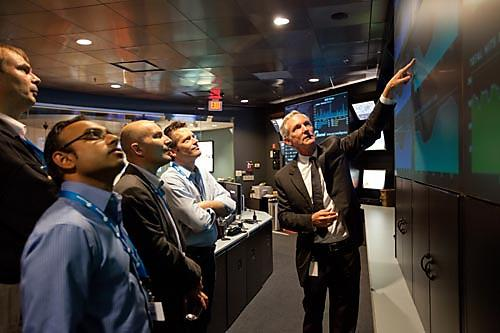 Akamai's Network Operations Command Center with CEO Tom Leighton.