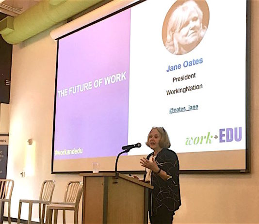 Jane Oates talked about structural unemployment and the solutions to it provided through educational reforms and improving future work.