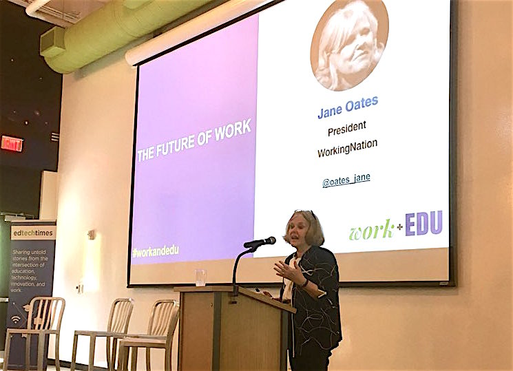 Jane Oates at work+EDU: Get ready for the future of work