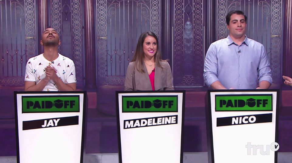 The student debt crisis is put into perspective in a hilarious game show Paid Off.