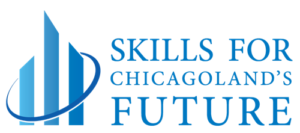 Skills for Chicagoland's Future Logo. The non-profit organization links workers to new job opportunities and skills training.