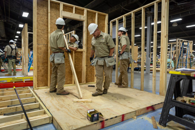SkillsUSA TeamWorks must work together like real-world construction teams.