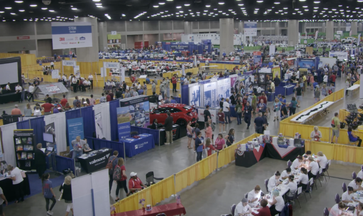 SkillsUSA's NLSC event floor takes up nearly 20 football fields.
