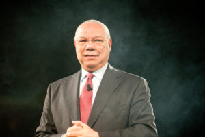 Mark Goulston identified Colin Powell as the ideal vision of leadership.