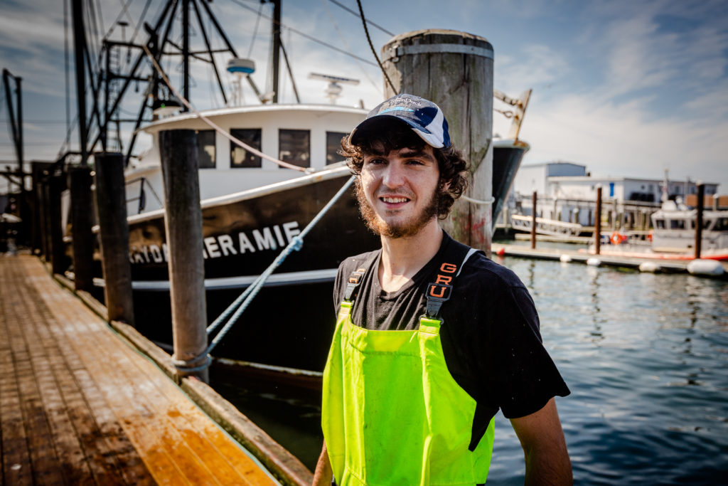 Kameron Rebello of New Bedford, Mass. is an apprentice in the Commercial Fisherman Apprenticeship Program.