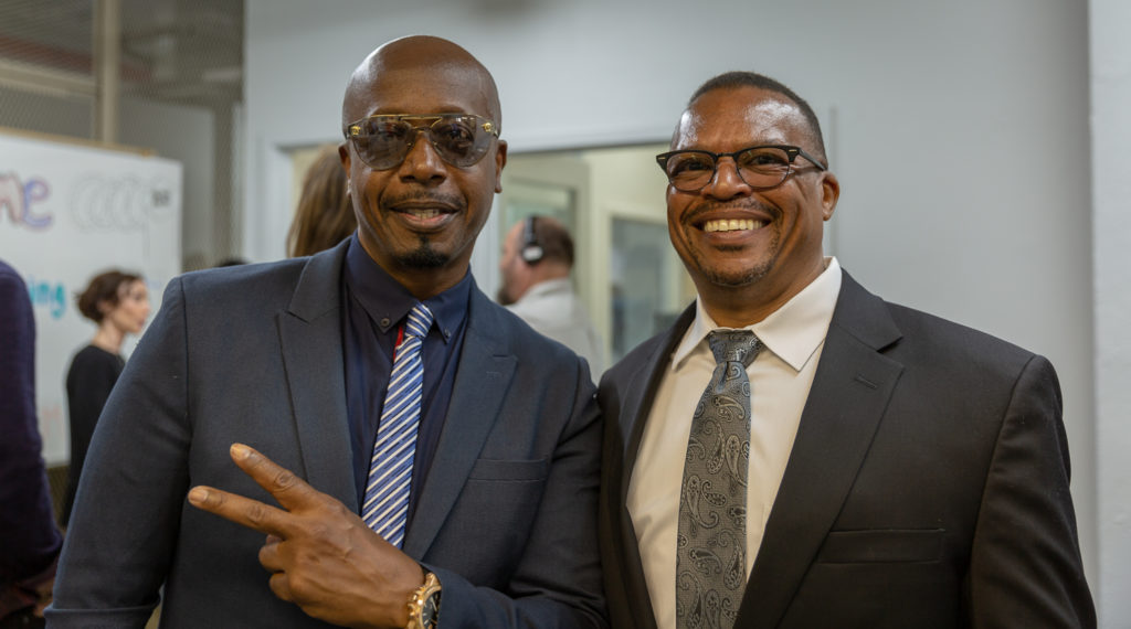 Chan Zuckerberg Initiative's Aly Tamboura and MC Hammer.