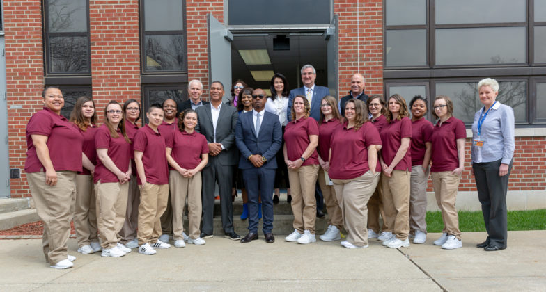 The first cohort of The Last Mile pilot program at the Indiana Women's Prison.