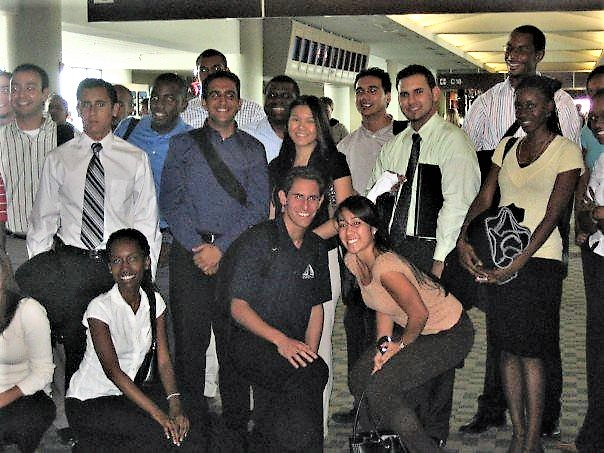 Charelle Lans with INROADS interns during the Leadership Development Institute in 2007.