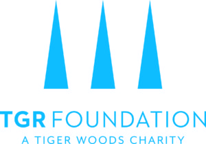 Logo for the TGR Foundation, A Tiger Woods Charity