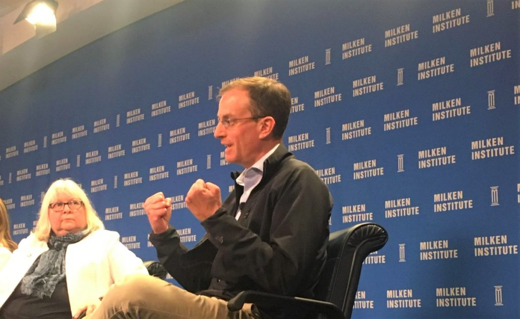 University Ventures' Ryan Craig at the business led education town hall hosted by Milken Institute.
