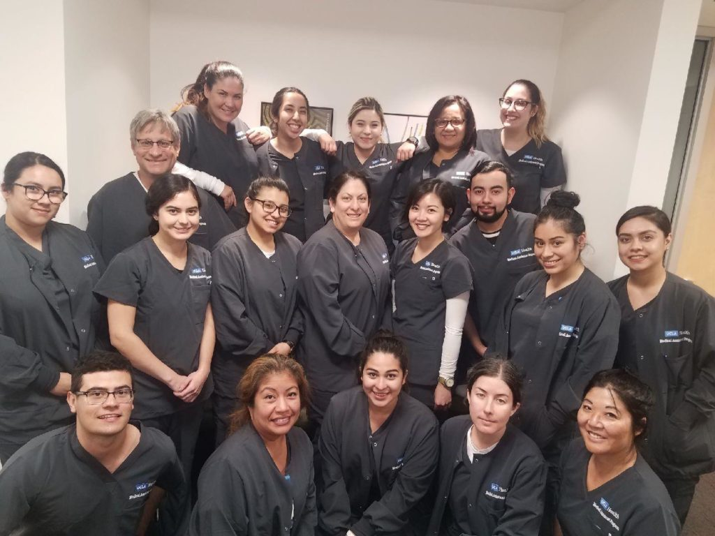 The 2019 cohort of UCLA Health's Medical Assistant Program.