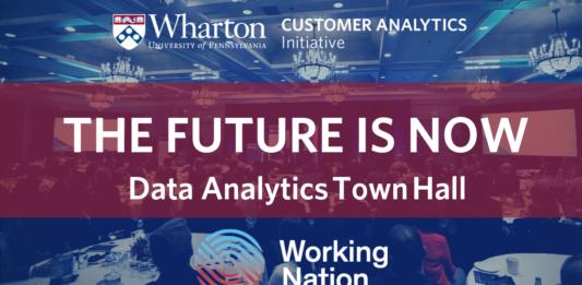 Graphic for The Future Is Now town hall event