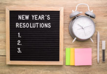 New Year's resolutions can make work a better place.