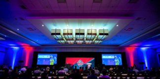 Auditorium photo of NFL Big Data Bowl