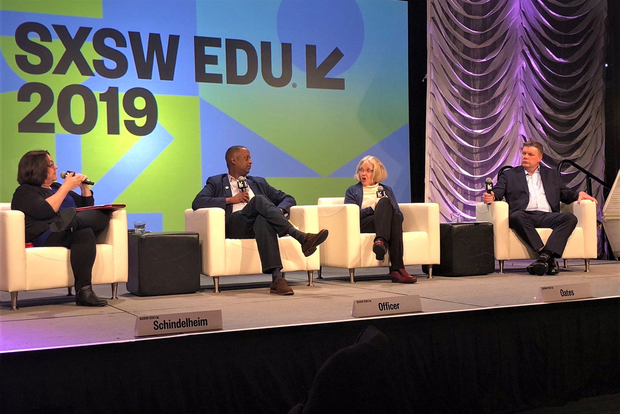 Panel on stage at SXSW EDU