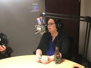 Ramona Schindelheim during podcast