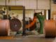 Cardboard rolls in production