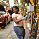 African American auto factory worker