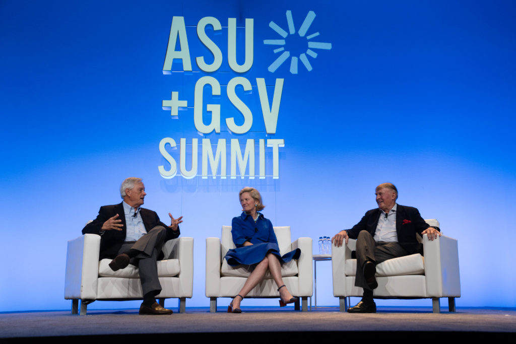 Deborah Quazzo on stage at ASU+GSV Summit