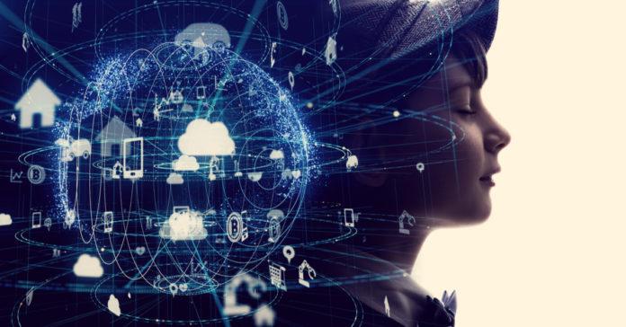 Futuristic internet communication concept