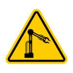 Caution Mechanical hand.