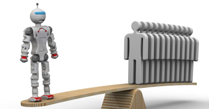 Comparison of the efficiency of the robot and the person.