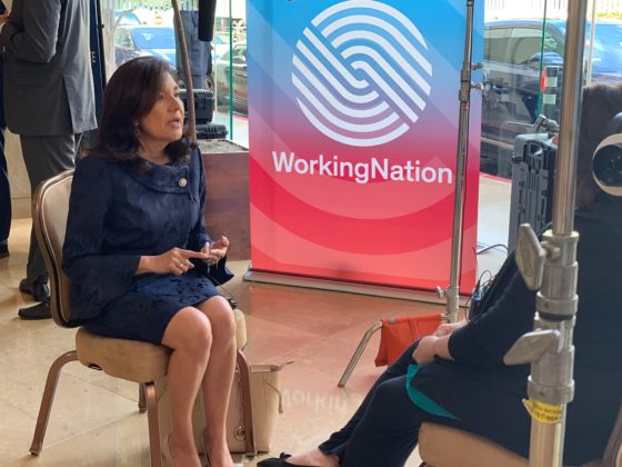 Maria S Salinas, President & CEO, LA Area Chamber of Commerce, speaks with WorkingNation Editor-in-Chief Ramona Schindelheim at Milken Global Conference 2019.