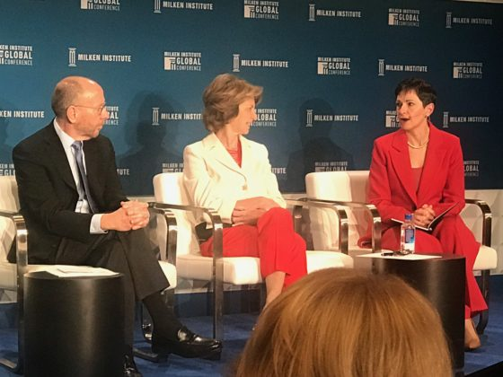"Penny Pennington, Managing Partner at Edward Jones, speaks at Milken Global Conference 2019 panel ""Is Retirement Extinct?"""