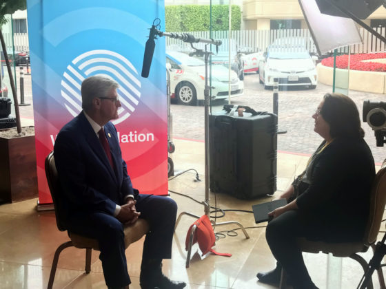 Mississippi Gov. Phil Bryant speaks with WorkingNation Editor-in-Chief Ramona Schindelheim at Milken Global Conference 2019.