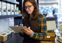 female retail worker