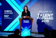 Cheryl Oldham at Talent Forward event