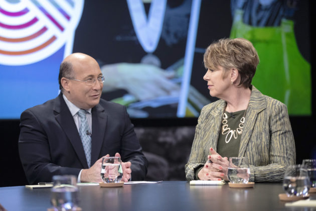 Ron Insana and Carol Eggert during The Table: Veterans and Work