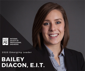 Bailey Diacon, engineer, NSPE Emerging Leader (Photo: NSPE)