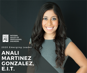 Anali Martinez Gonzales, engineer-in-training, NSPE Emerging Leader (Photo: NSPE)