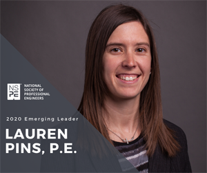 Lauren Pins, engineer, NSPE Emerging Leader (Photo: NSPE)