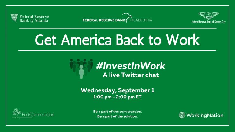 Wednesday, September 1: Join us for the #InvestInWork Twitter chat